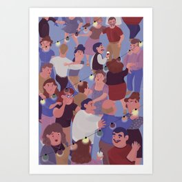 Sunday at the dance hall Art Print