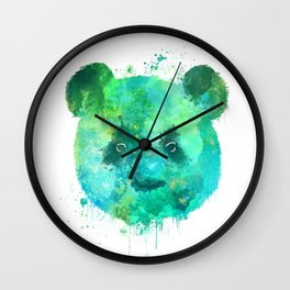 Watercolor Panda Painting Wall Clock