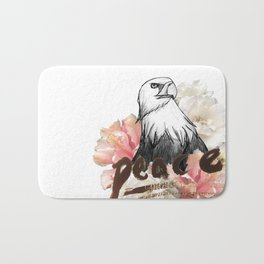 Peace Wreath Bath Mat
