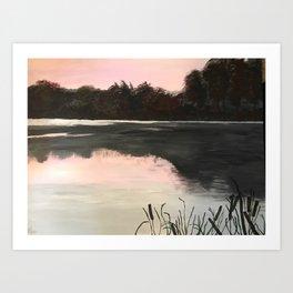 An Evening at the Lake Art Print