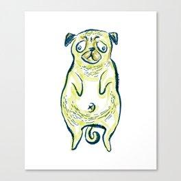 Pug Portrait 2 Canvas Print