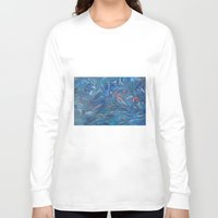 the life aquatic Long Sleeve T-shirts featuring Aquatic by Victoria Bladen