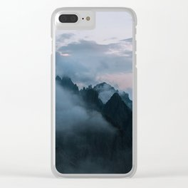 Dolomite Mountains Sunset covered in Clouds - Landscape Photography Clear iPhone Case