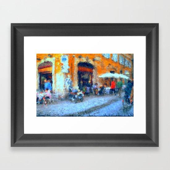 Cafe in Rome Framed Art Print