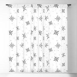 Nordic Snow - Black Line Blackout Curtain
