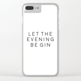 HOME BAR DECOR, Let The Evening Be Gin,Funny Bar Decor,Alcohol Sign,Drink Sign,Bar Wall Art,Gin And Clear iPhone Case