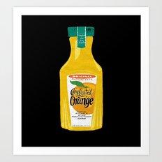 Complicated Orange Art Print