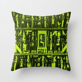 Egyptian serigraphy Throw Pillow