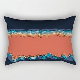 Fire goddess kisses the ocean Rectangular Pillow