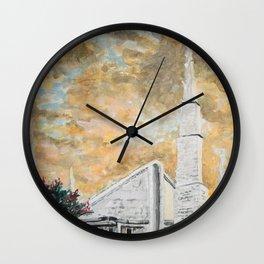 Dallas Texas LDS Temple Sunrise Wall Clock