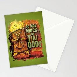 Do Not Mock The Tiki God! Stationery Cards