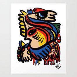 Graffiti Totem Street Art Creature for you  Art Print