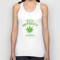 weed Tank Tops featuring Weed University by Nxolab
