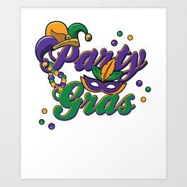 Mardi Gras Parade 2019 Beads Party Shirt Gift Idea Light Art Print