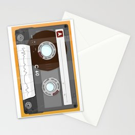 The cassette tape Robot Stationery Cards
