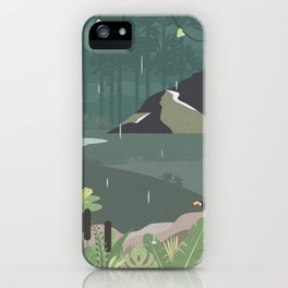 Jungle Rain iPhone Case