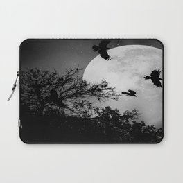 Haunting Moon & Trees Laptop Sleeve