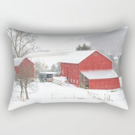 Amish Barns Rectangular Pillow