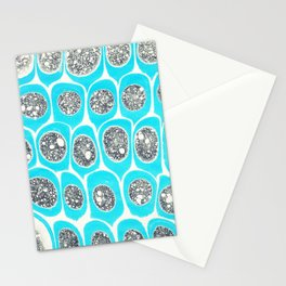 Cyan capsules Stationery Cards