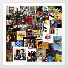 Classic Rock And Roll Albums Collage Art Print