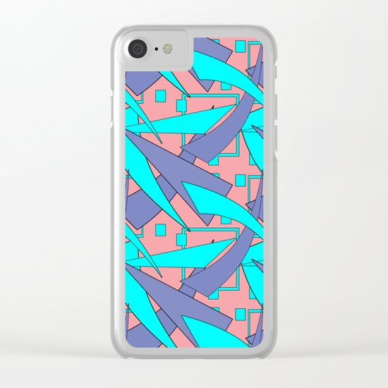 Creative abstract pattern . Geometric shapes . Clear iPhone Case