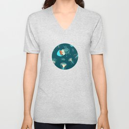 Flow jellyfishes Unisex V-Neck