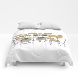 White Drum Kit Comforters