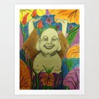 buddah Art Prints featuring Wedding Buddah by Manuel Estrela 113 Art Miami