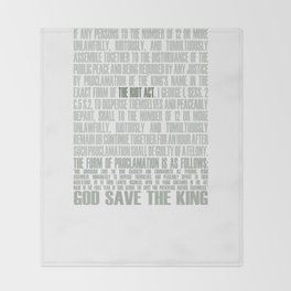 The Riot Act Throw Blanket