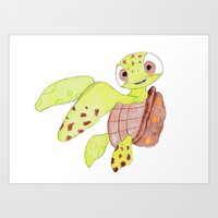 finding nemo Art Prints featuring finding nemo by Art_By_Sarah