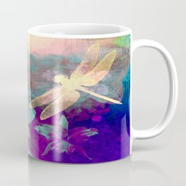 Painting Dragonflies and Orchids A Coffee Mug