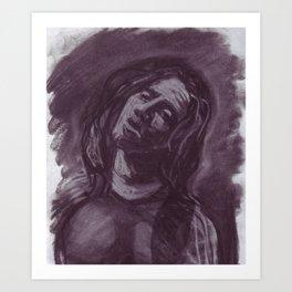 John Frusciante in charcoal. Art Print