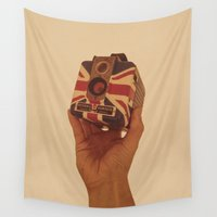 british Wall Tapestries featuring British Brownie by Dan Howard