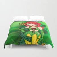 poison ivy Duvet Covers featuring Poison Ivy by JennaJennaBatman