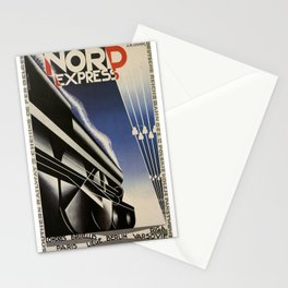 Vintage poster - Nord Express Stationery Cards