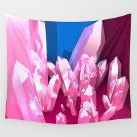 crystals Wall Tapestries featuring Crystals by Katrina Zenshin