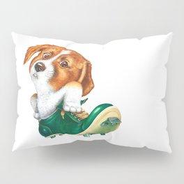 A little dog in a spike Pillow Sham