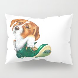 A little dog in a spike Pillow Sham
