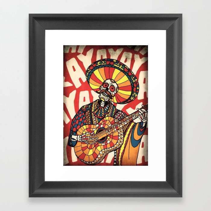 Sugarskull Framed Art Prints | Society6