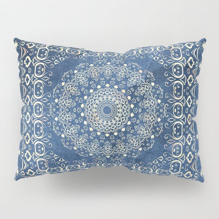 Old Bookshop Magic Mandala in Blue Pillow Sham
