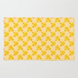 Bright Yellow Flowers Rug