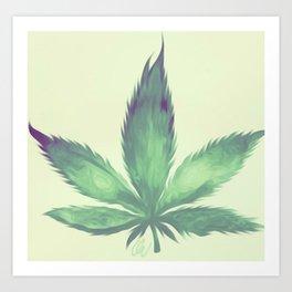 Queen Green Art Print