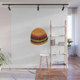 Watercolor hamburger Wall Mural