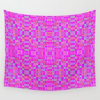 candy Wall Tapestries featuring Candy Colored Pixels by 2sweet4words Designs