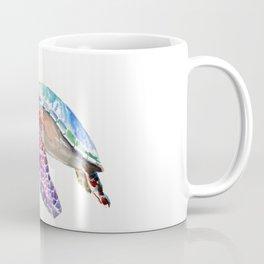 Sea Turtle, swimming turtle art, purple blue design animal art Coffee Mug