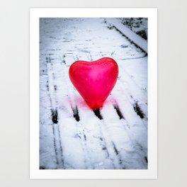 The Heart Can Cross Any Bridge Art Print