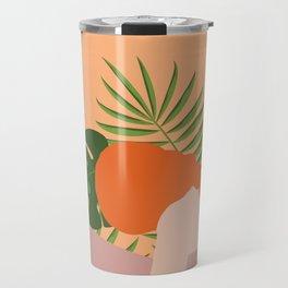 Woman w/ Jungle Leaves Travel Mug
