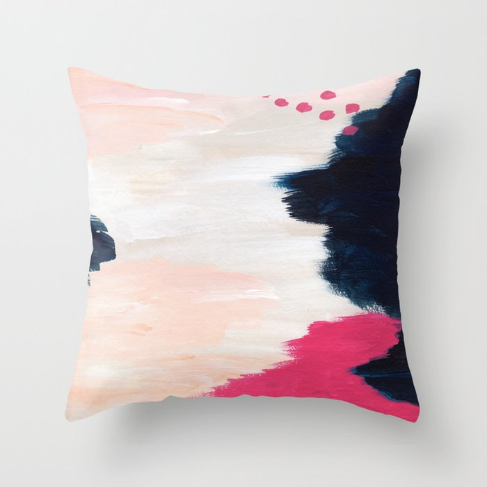 In the Sand Abstract Throw Pillow
