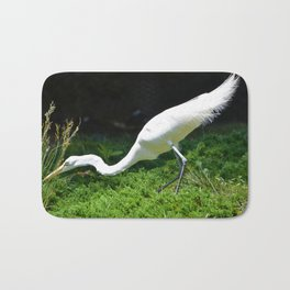 Stalking Egret Bath Mat