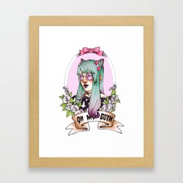 Oh my GOTH! Framed Art Print